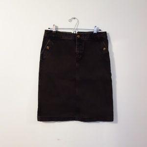 Lauren Jeans Co Dark Denim Midi Skirt